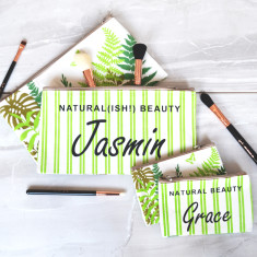 Personalised Natural Beauty Makeup Bag