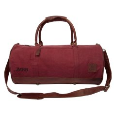 Canvas Duffle in dark red