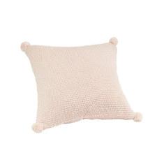 Pom Pom Cushion - Peony (pink)
