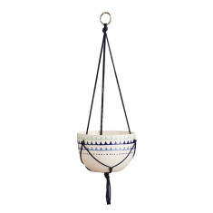 Ziggy ceramic hanging planter