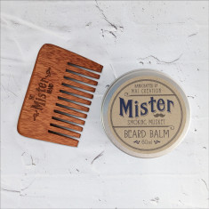 Beard balm and comb