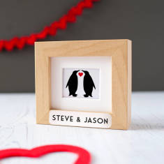 Personalised Animal Couple Framed Miniature Print