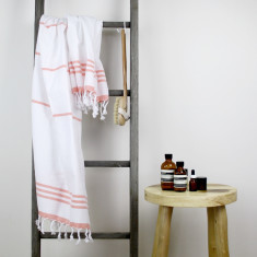 Wategos Turkish Towel - White/Melon