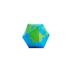 Areaware dymaxion folding globe