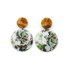 Resin Statement Earrings - Gaia