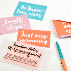 Random Notes of Encouragement Notecard Set