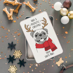 Santapaws Christmas Pug Storage Tin