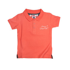 Piqué knit polo shirt in orange