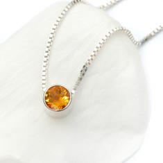 Citrine Necklace November Birthstone