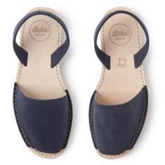 Alohas Navy Suede Sandal