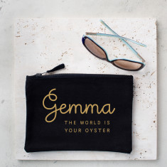 Personalised World Is Your Oyster Pouch