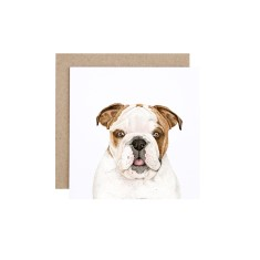 English Bulldog Greeting Card (pack of 5)
