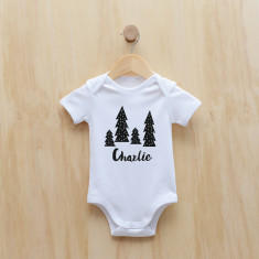 Personalised Christmas Monochrome Trees bodysuit
