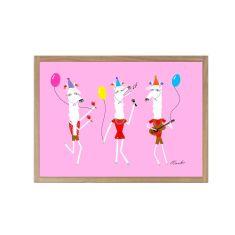 Party Llamas Giclee print