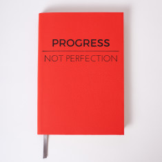 Progress Not Perfection - Luxury personal journal / notebook for 2017