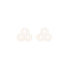 Triple Hex Geometric Studs