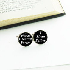Worlds greatest farter I mean father cufflinks