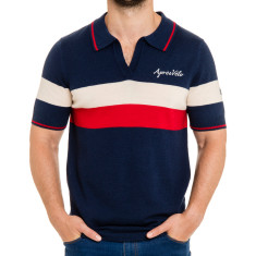 Sporty retro wool polo