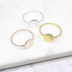 Disc Ring (silver/gold/rosegold)