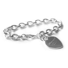 Personalised Flowergirl engraved bracelet