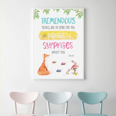 Roald Dahl - Tremendous Things are in Store for You Wall Art Print