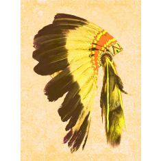 Indio yellow ready to hang canvas art
