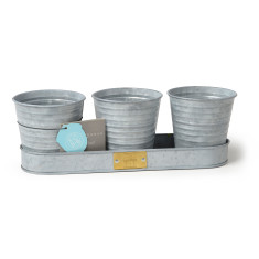 Sophie Conran for Burgon & Ball Galvanised Herb Pots