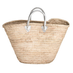 Large basket with silver handles
