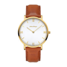 Ava - Gold Brown Leather Watch