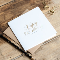 Well done for being born birthday gold foiled card