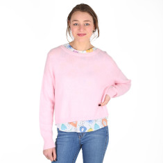 Go Anywhere Mohair Knit Sweater - Baby Pink