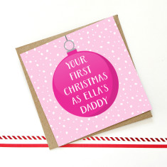 Personalised Daddy's first Christmas card