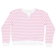 Pink zebra women's sweat top