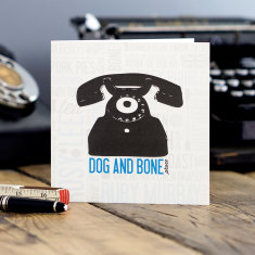 Dog and bone greeting card (pack of 6)