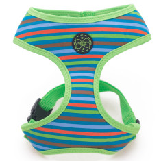 Retro stripe dog harness
