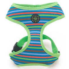 Retro stripe dog harness