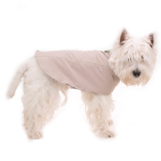 Dog raincoat in beige