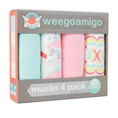 Wegoamigo doll's house baby muslin swaddle (4 pack)