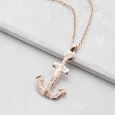 Rose & Gold Maxi Anchor Necklace
