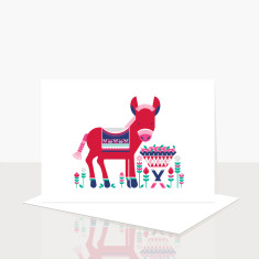 Donkey greeting card (box of 8)