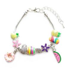 Children's donut charm bracelet