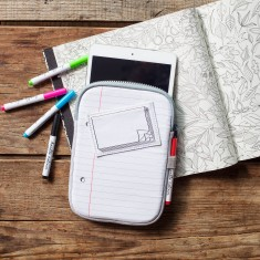 Doodle iPad Mini case with wash-out mini-pens