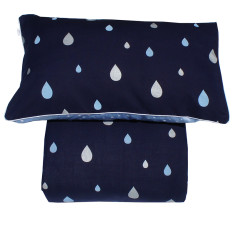 Reversible oona cover set in blue summer rain