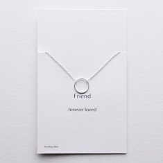 Friend silver circle necklace