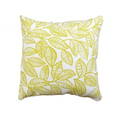Ku-ring-gai square cushion cover in chartreuse