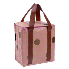 Insulated picnic bag in dots print