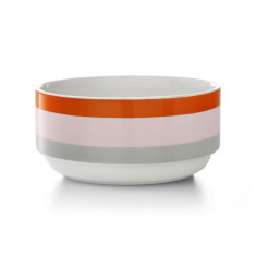 Double dip stacking bowl in blush