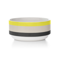 Double dip stacking bowl in yellow