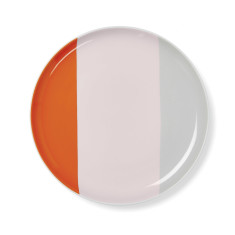 Double dip side plate in blush
