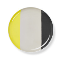 Double dip side plate in yellow